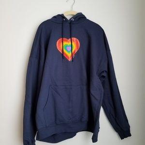 Common Culture charity love hoodie rainbow heart